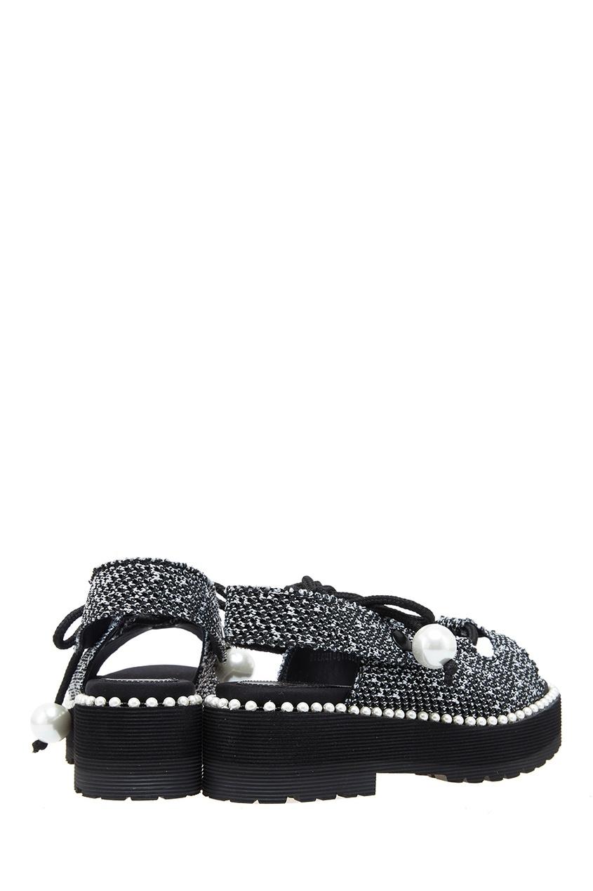 Suecomma Bonnie Текстильные сандалии с бусинами сандалии caprice сандалии