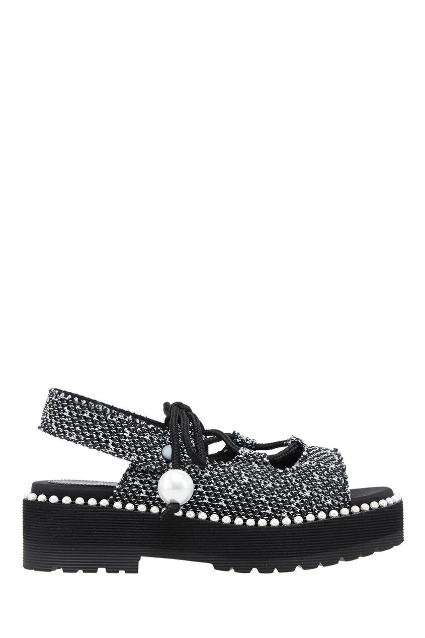 Suecomma Bonnie Текстильные сандалии с бусинами сандалии velvet сандалии на обычной подошве
