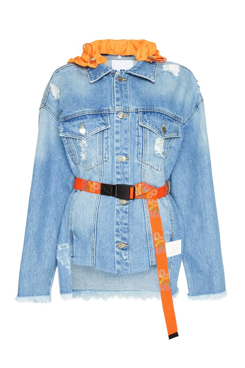 SJYP Джинсовая куртка с капюшоном джинсовая куртка