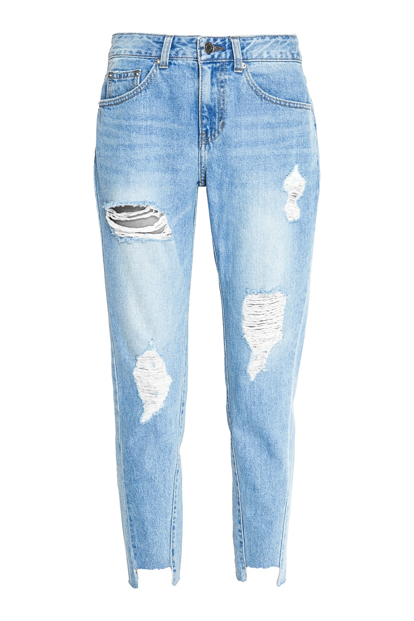 SJYP Голубые потертые джинсы boyfriend джинсы wrangler джинсы boyfriend