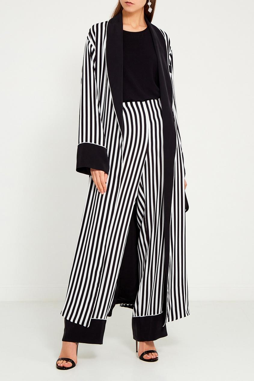Шелковые брюки в полоску