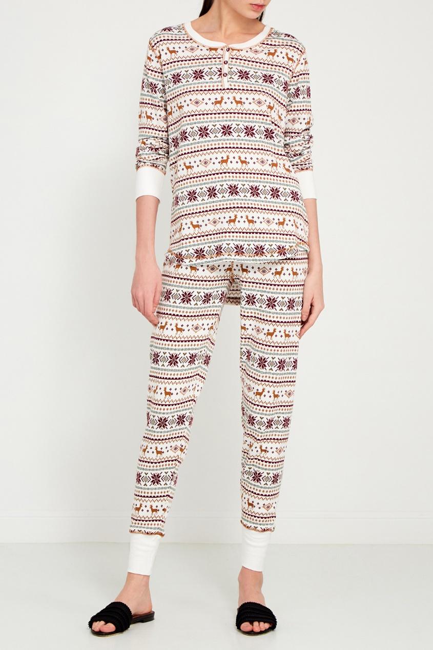 P.J. Salvage Пижамные брюки с орнаментом