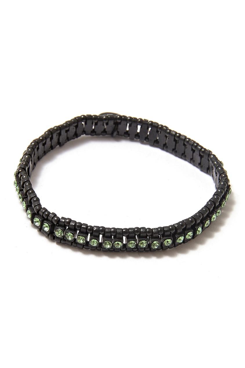 Черный браслет с кристаллами