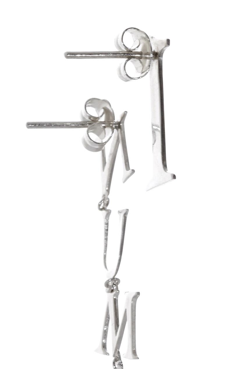 Dzhanelli Jewellery Асимметричные серьги из серебра axenoff jewellery серьги кокошники