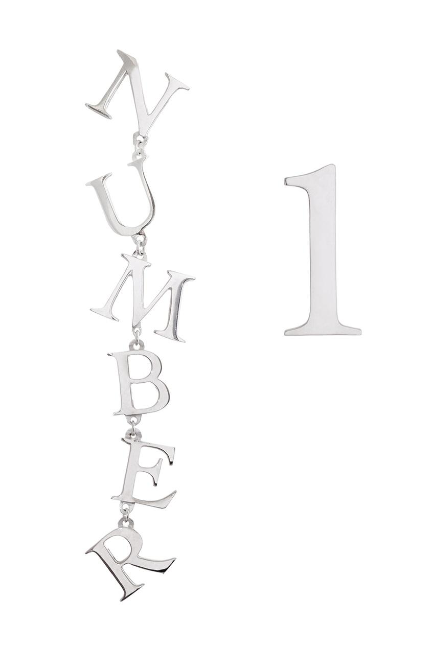 Dzhanelli Jewellery Асимметричные серьги из серебра цена