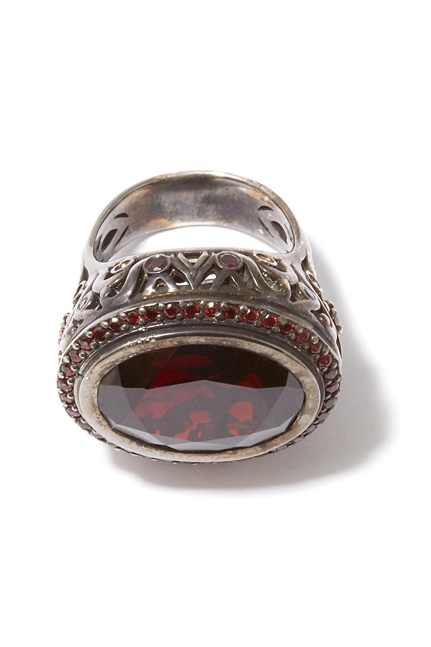 Dzhanelli Jewellery Серебряное кольцо с гранатом