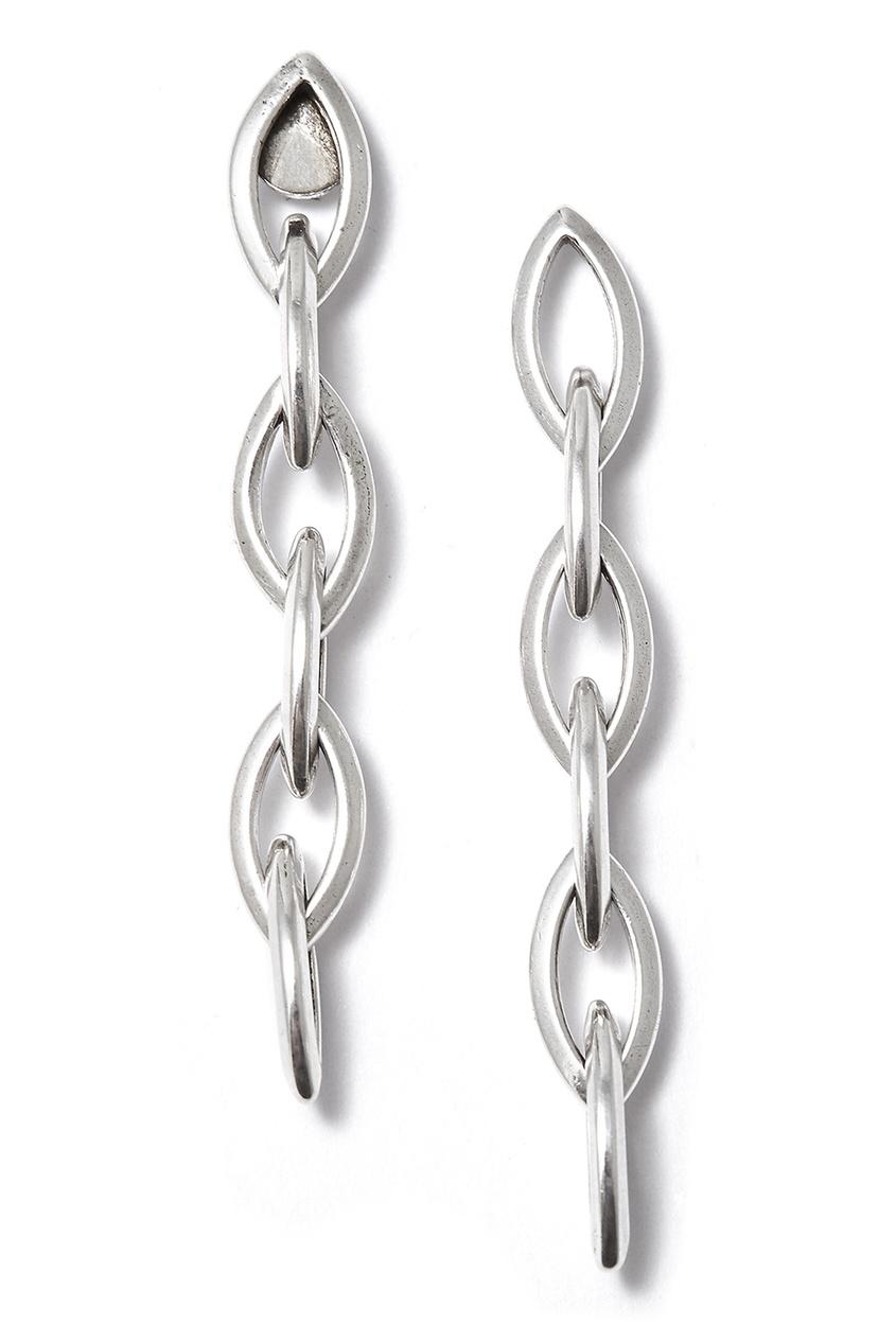 Philippe Audibert Серебристые серьги-цепочки