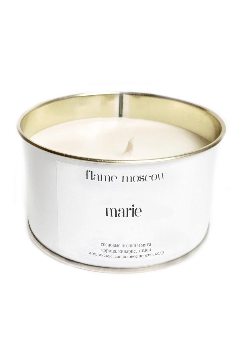 Flame Moscow Ароматическая свеча в металле White Metal Marie, 325 g