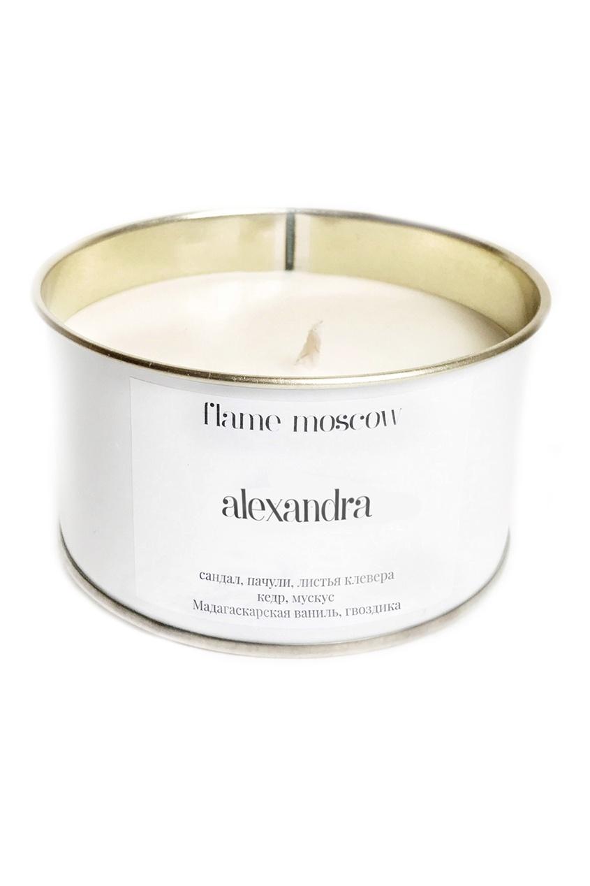 Flame Moscow Ароматическая свеча в металле White Metal Alexandra, 325 g