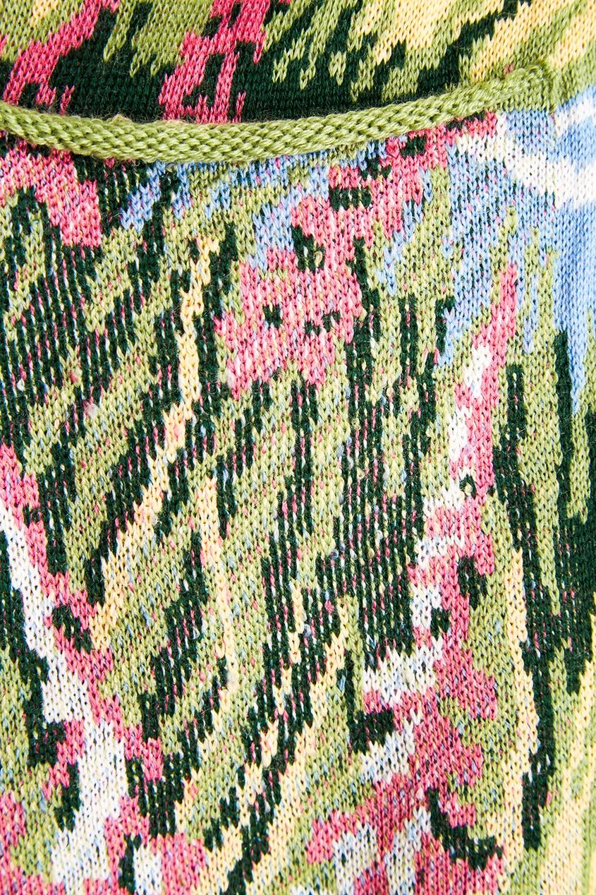 Шерстяной кардиган с цветами