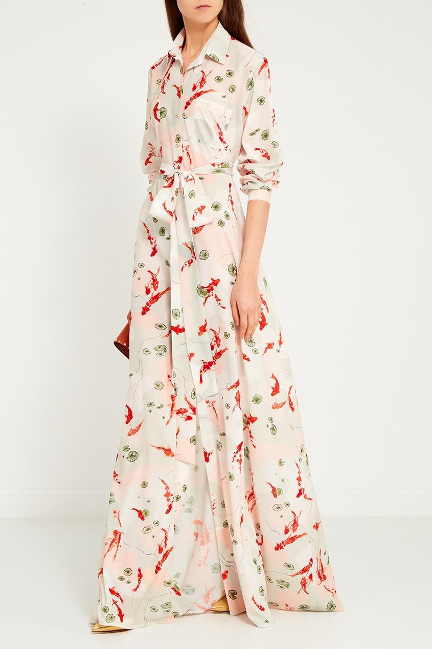 LAROOM Длинное платье-рубашка с поясом платье рубашка fox yulia sway платье рубашка fox