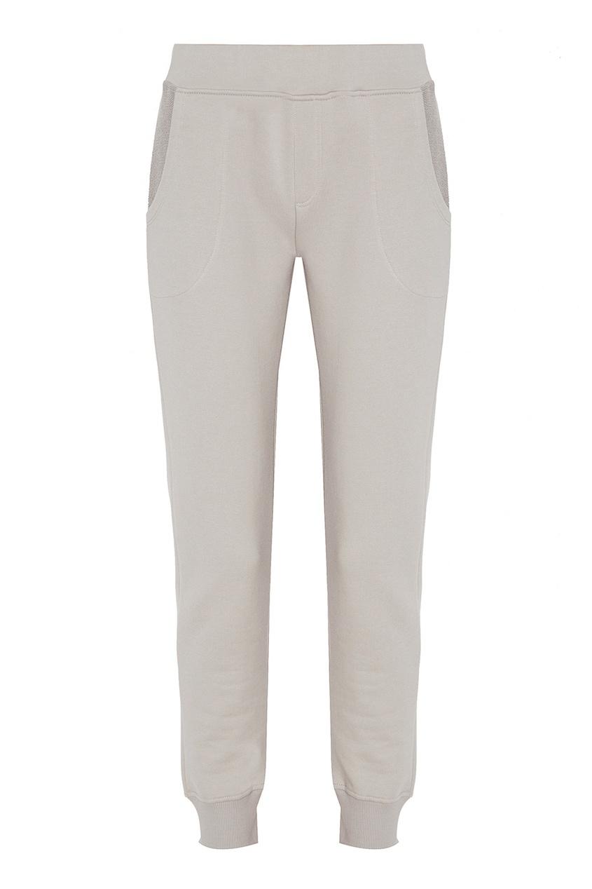 Manouk Серые трикотажные джоггеры брюки спортивные светло серого цвета brums ут 00007521