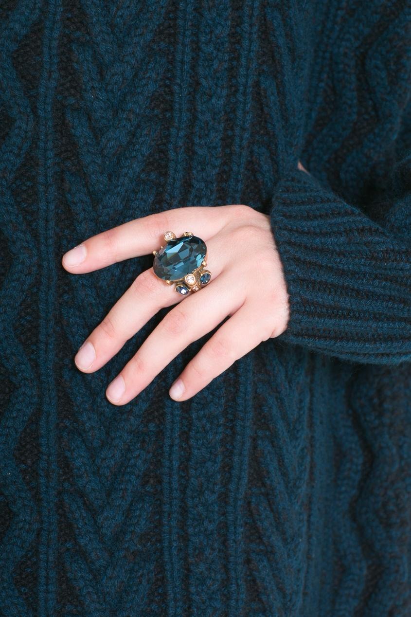 Кольцо из олова и кристаллов ПЕРЕСОРТ