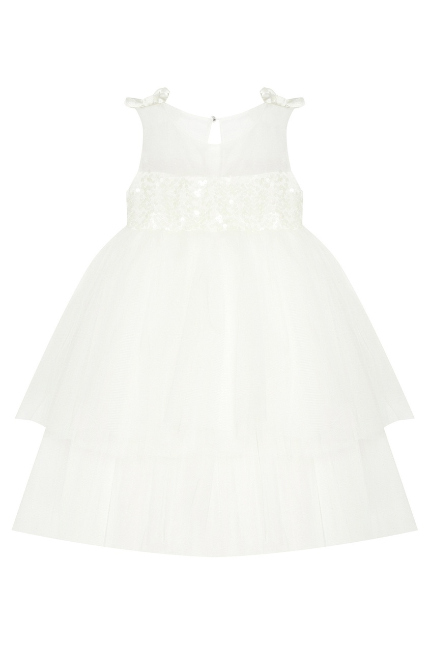 Белое платье с пайетками Snowflake