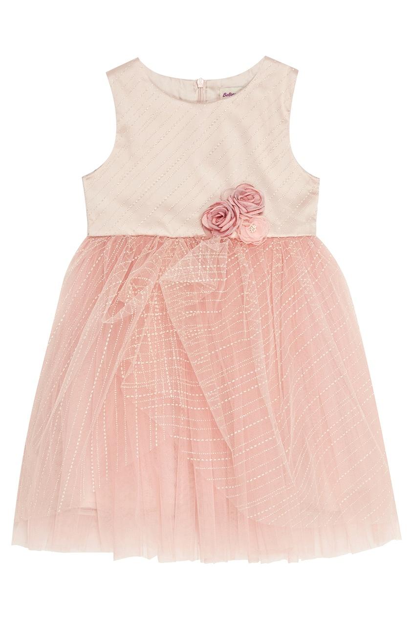 цена Balloon and Butterfly Розовое платье с цветами Diana онлайн в 2017 году