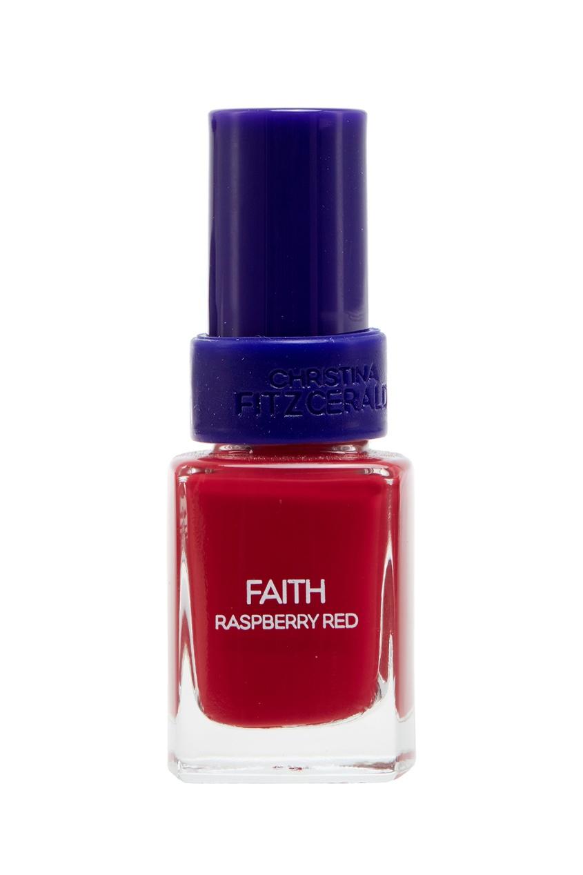 Лак для ногтей Faith / Ягода малина + Bond-подготовка, 9 ml