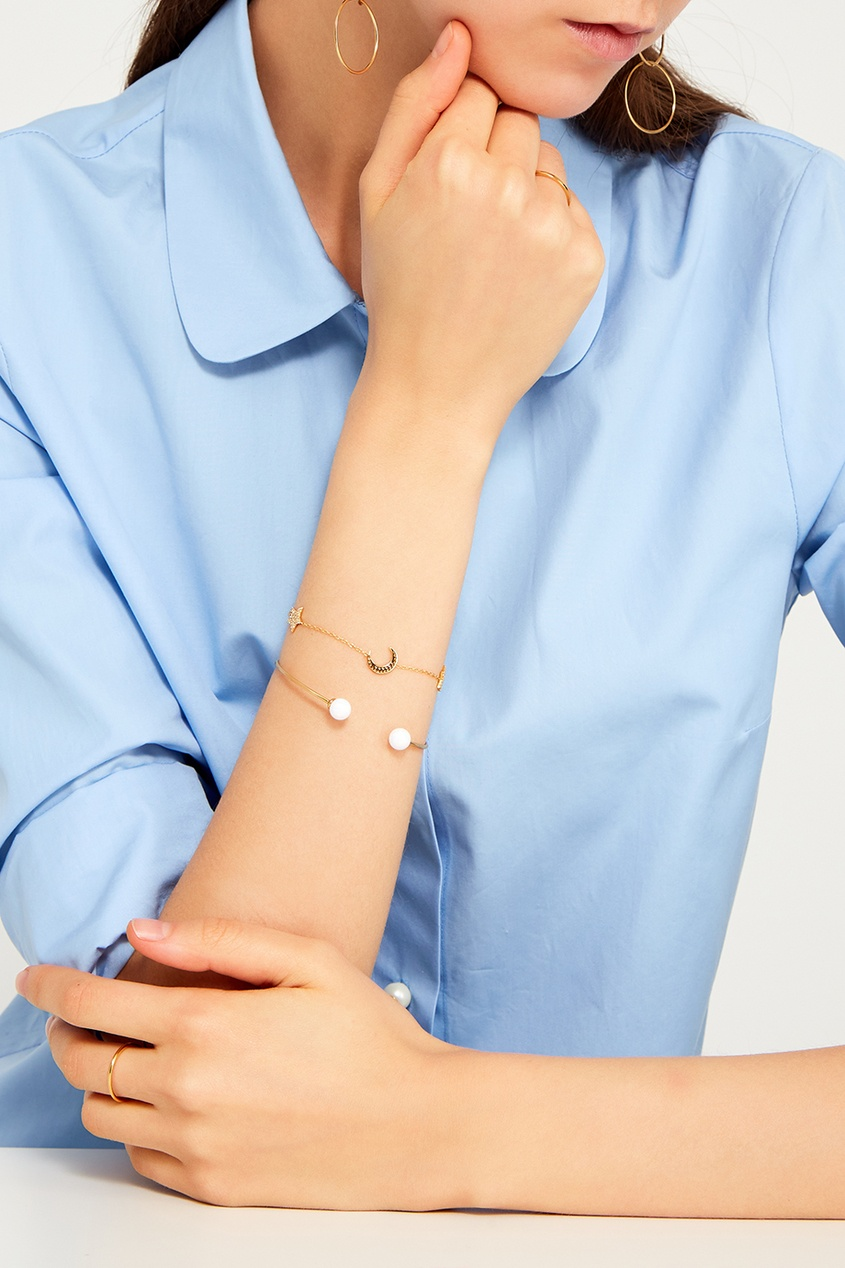 Золотистый браслет с опалами