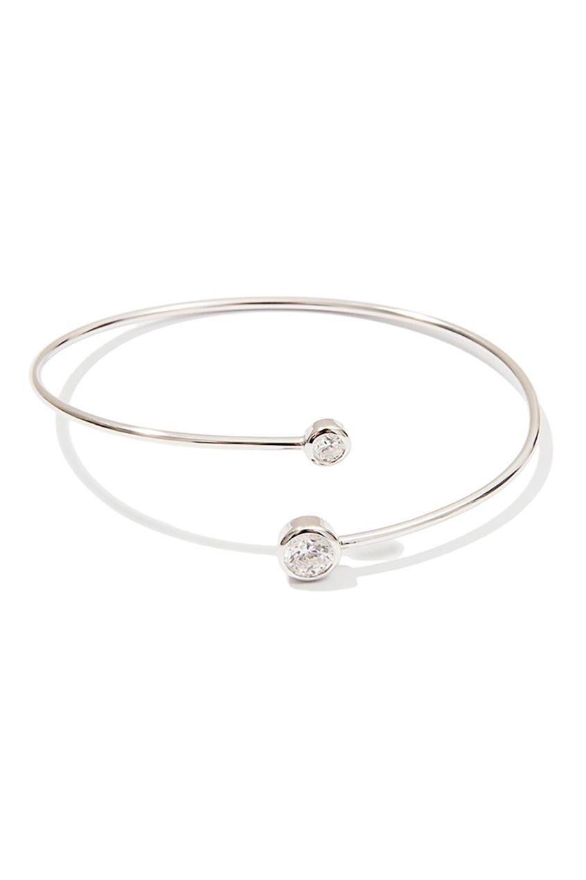 Exclaim Серебяный браслет с цирконами браслеты exclaim легкий браслет цепочка с миниатюрными цирконами
