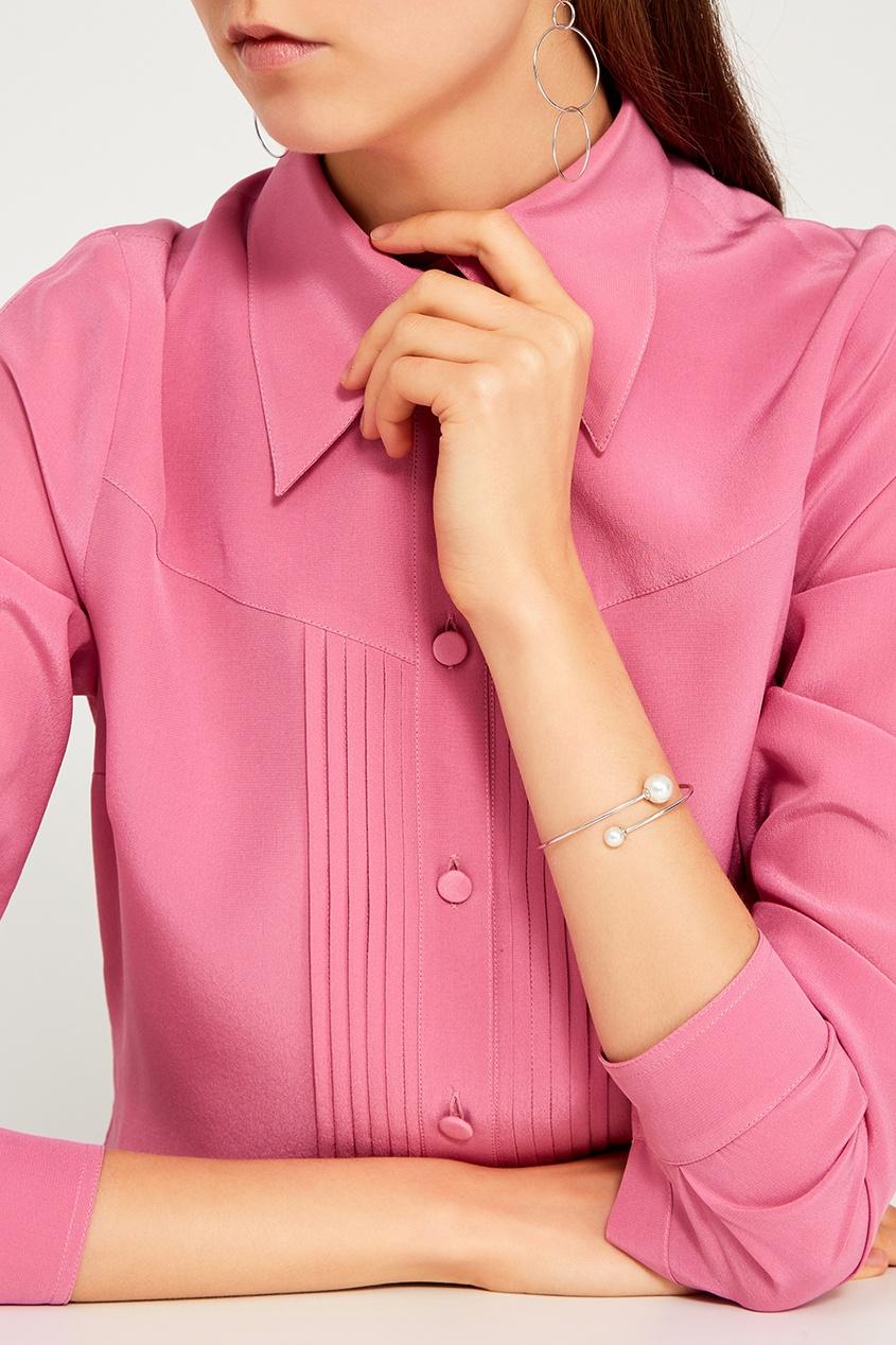 Серебряный браслет с жемчужинами