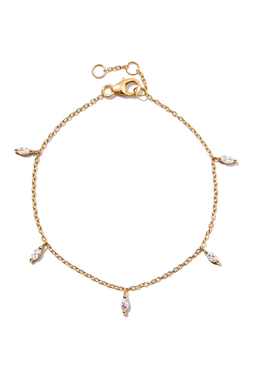 Exclaim Серебряный браслет-цепочка с кристаллами браслеты exclaim легкий браслет цепочка с миниатюрными цирконами