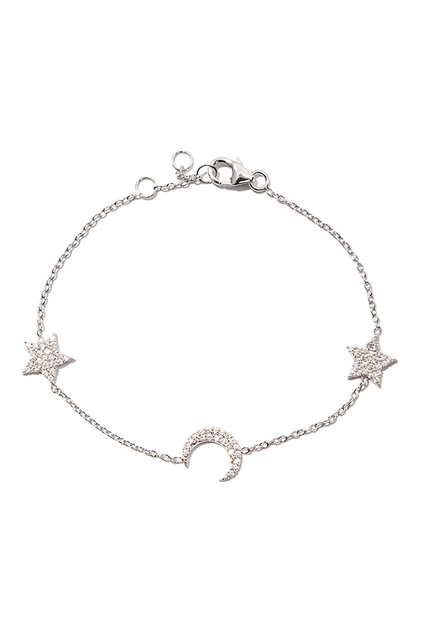 Exclaim Серебряный браслет со звездами