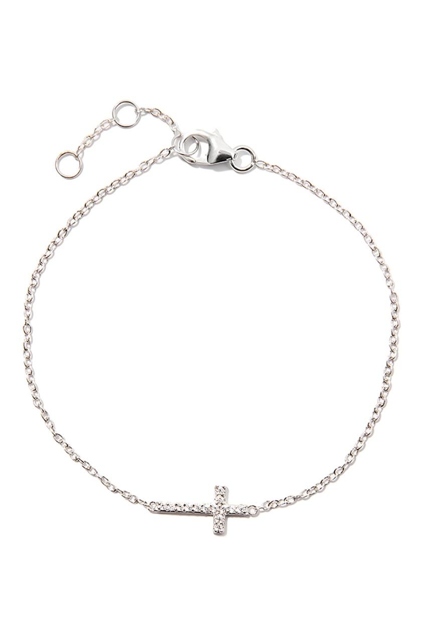 Exclaim Серебряный браслет с крестом браслеты exclaim легкий браслет цепочка из серебра с золотым покрытием