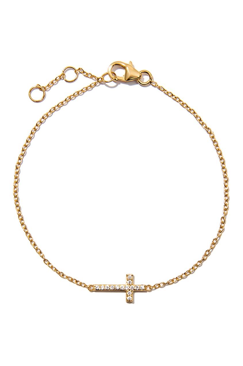 Exclaim Серебряный браслет с крестом