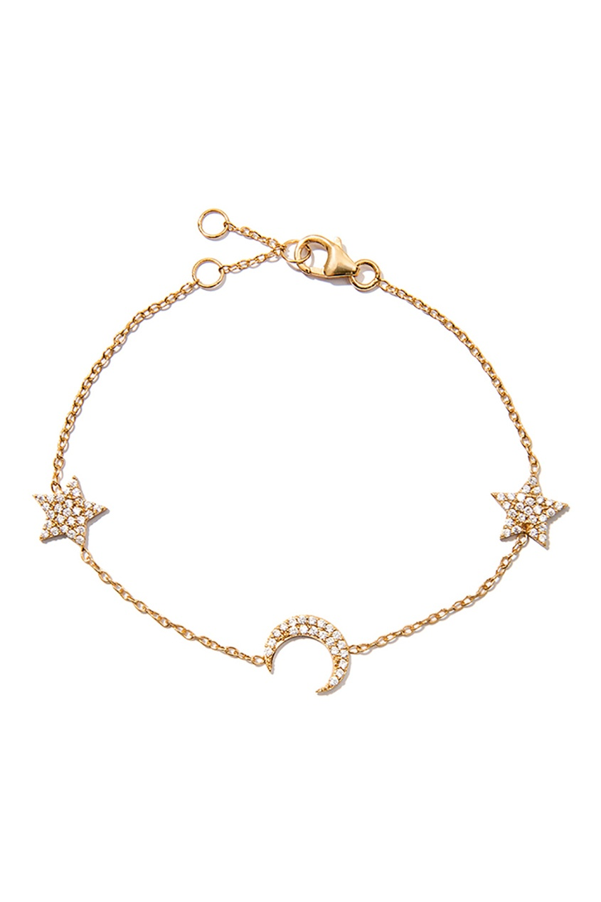 Серебряный браслет со звездами