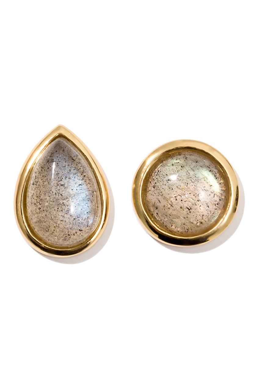 Exclaim Серьги-гвоздики серебряные с камнями