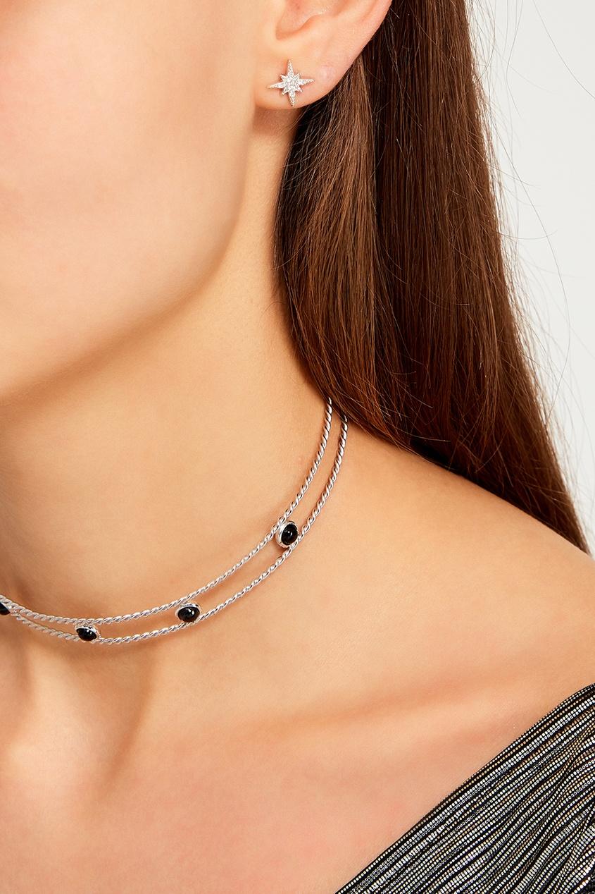 Exclaim Серебряные серьги с кристаллами