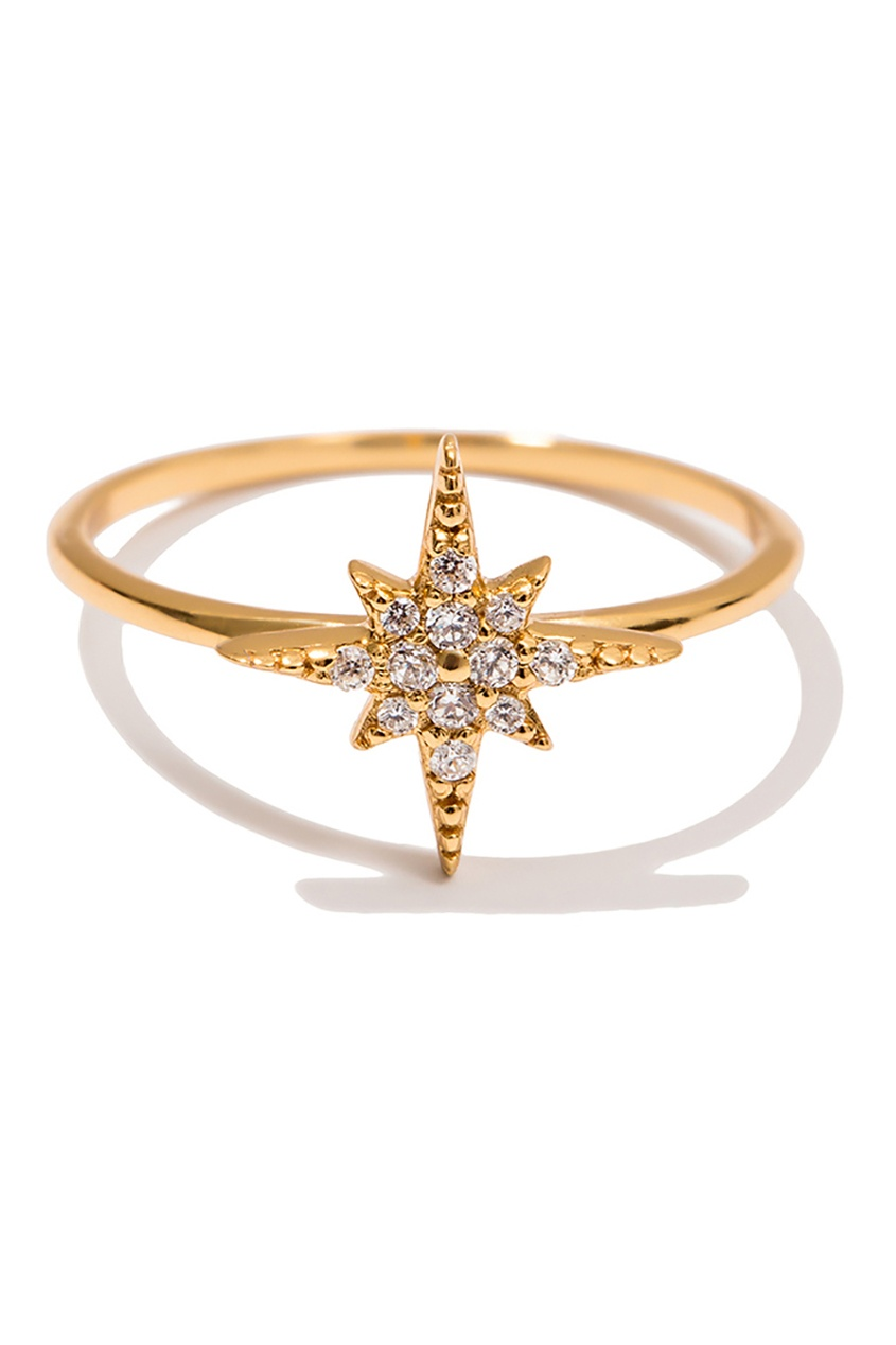 Exclaim Серебряное кольцо со звездой