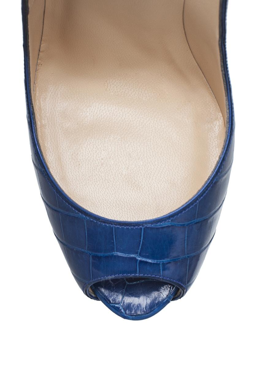 Туфли из кожи аллигатора Lady Peep 150
