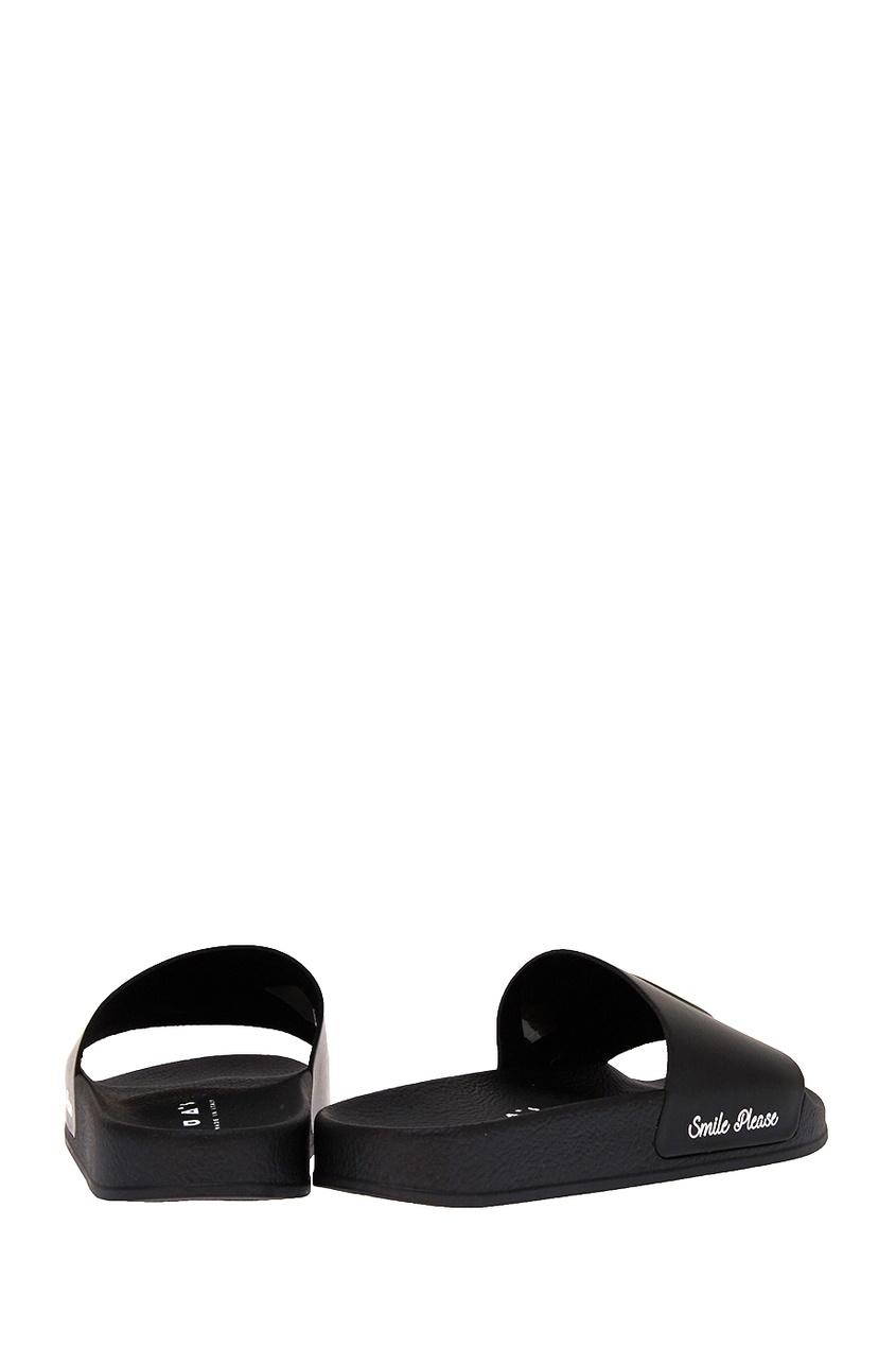 Joshua Sanders Черные сандалии со смайлом joshua sanders слипоны с вышивкой крестиком