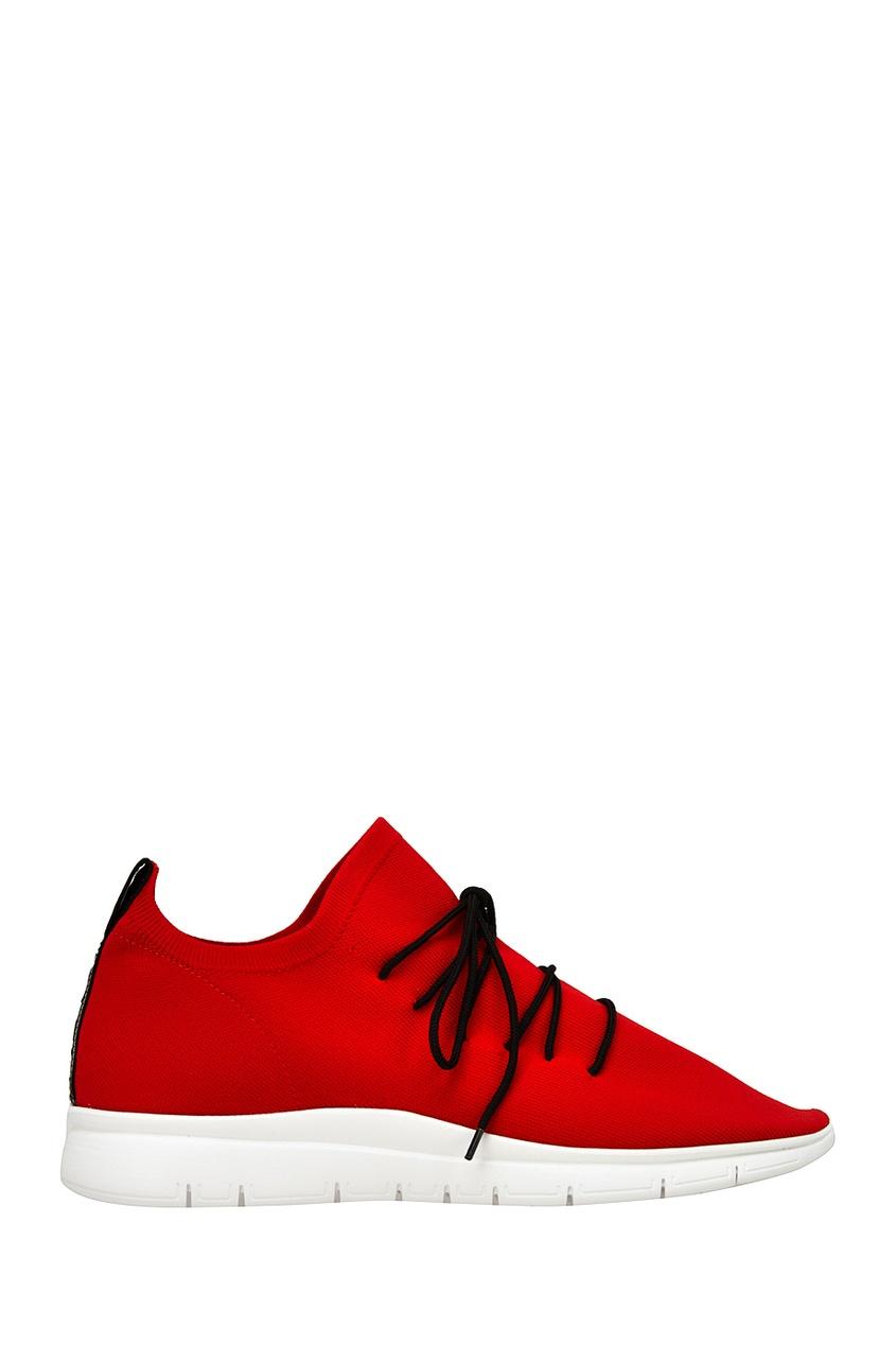 Красные текстильные кроссовки от Joshua Sanders