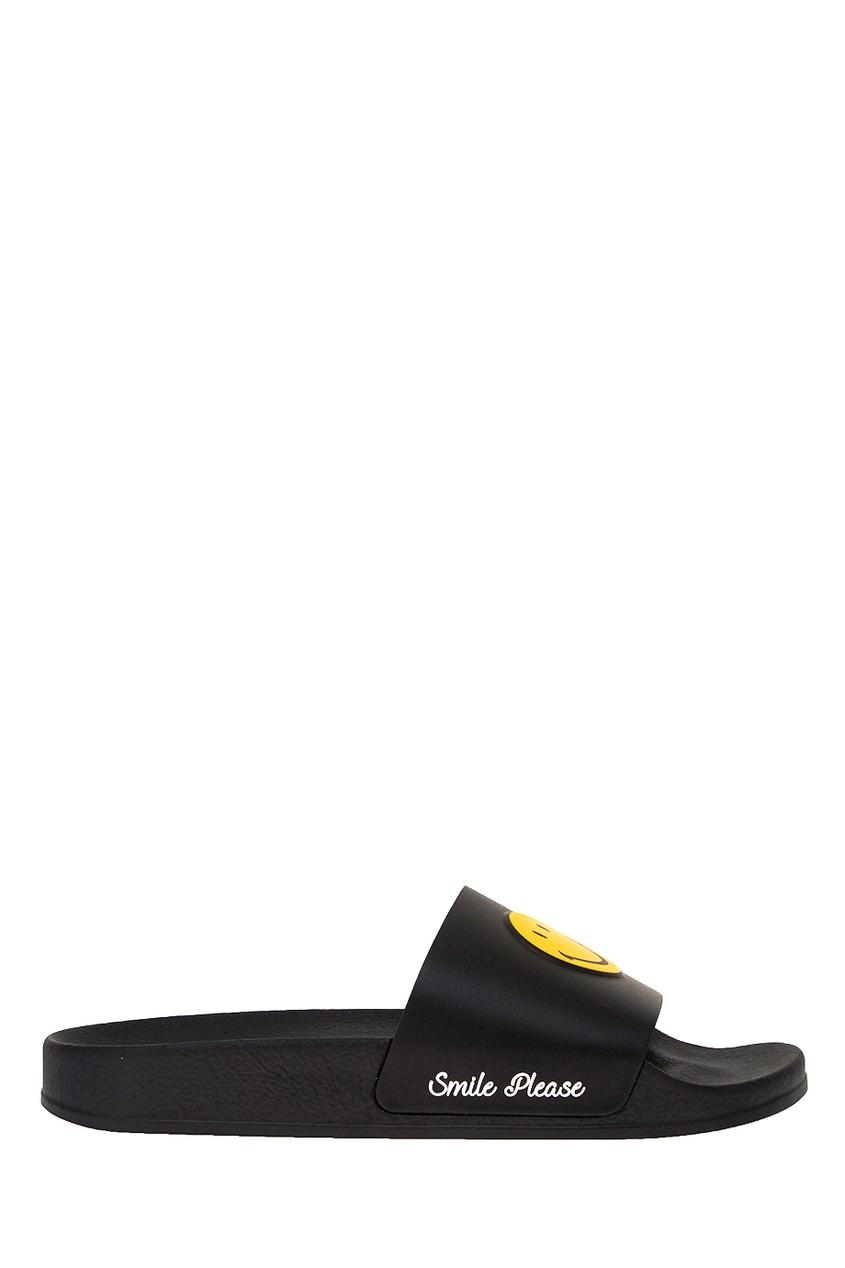 Joshua Sanders Черные сандалии со смайлом