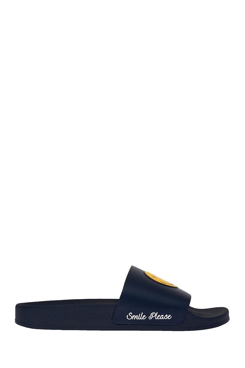 Joshua Sanders Синие сандалии со смайлом joshua sanders слипоны с вышивкой крестиком
