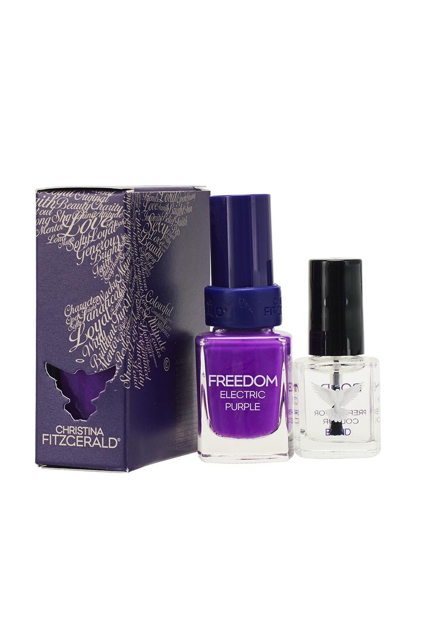 Christina Fitzgerald Лак для ногтей Freedom / Пурпурное сердце + Bond-подготовка, 9 ml