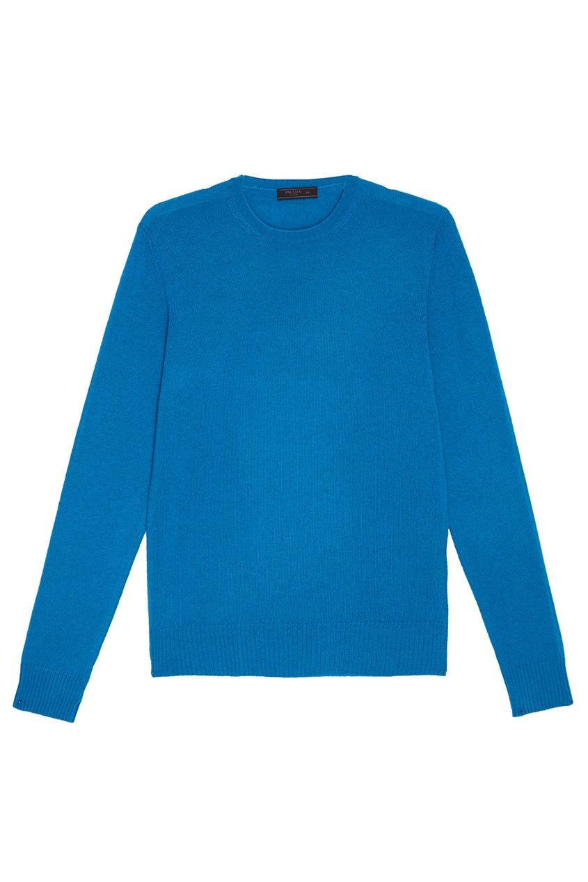 Prada Голубой джемпер из кашемира