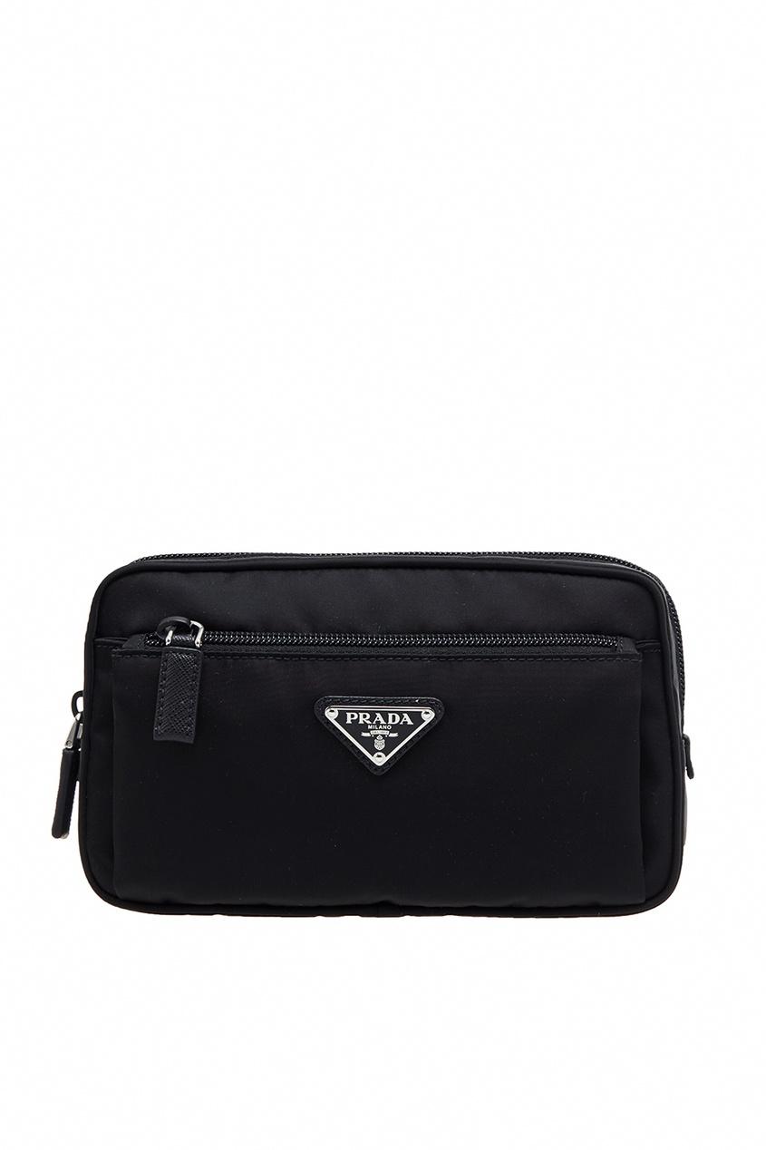 Prada Черная текстильная сумка prada сумка от prada 100203