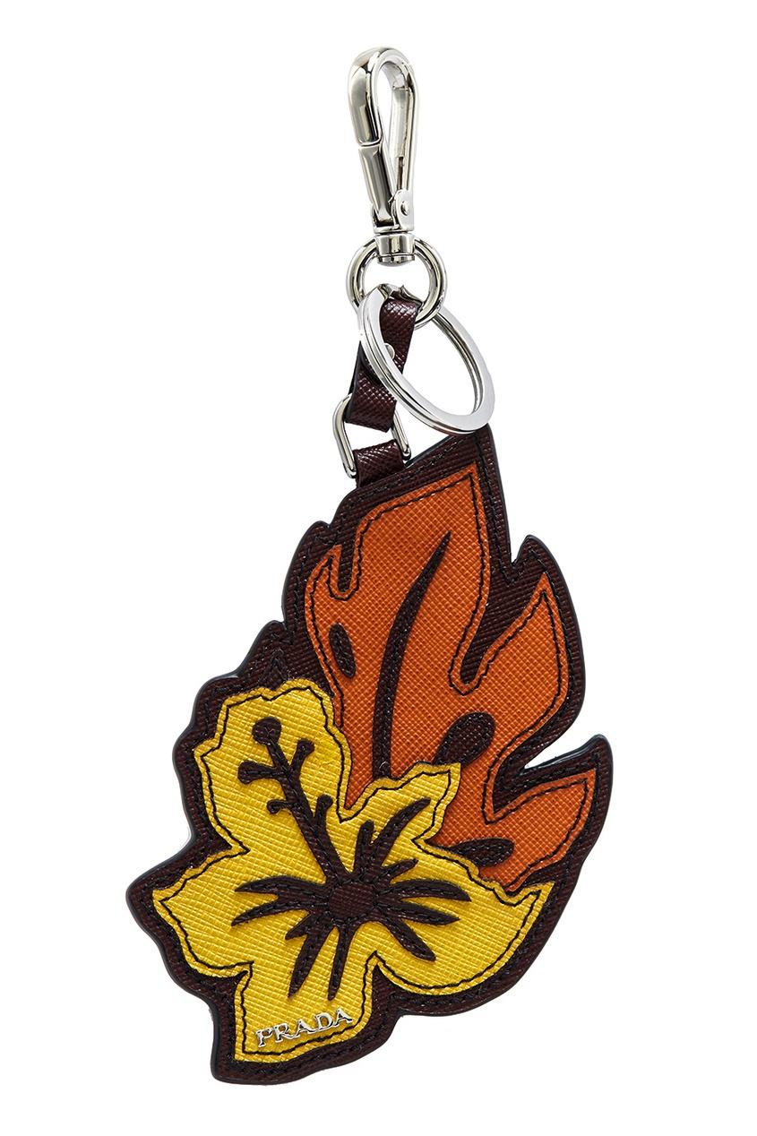 Prada Кожаная подвеска-брелок prada брелок для ключей