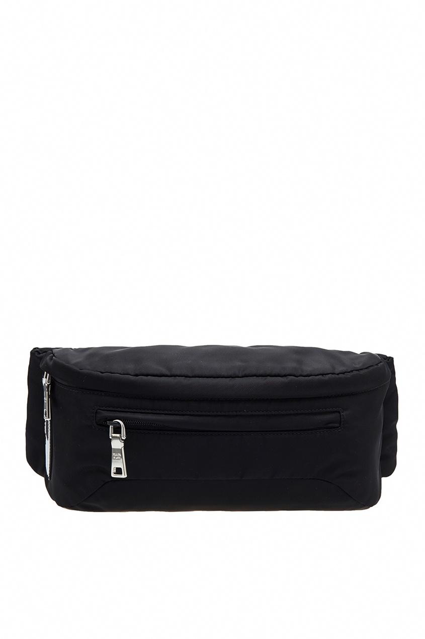 Поясная сумка из текстиля от Prada