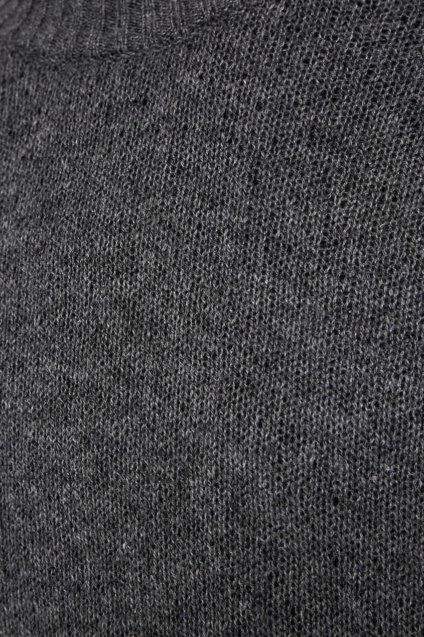 Prada Серый кашемировый джемпер