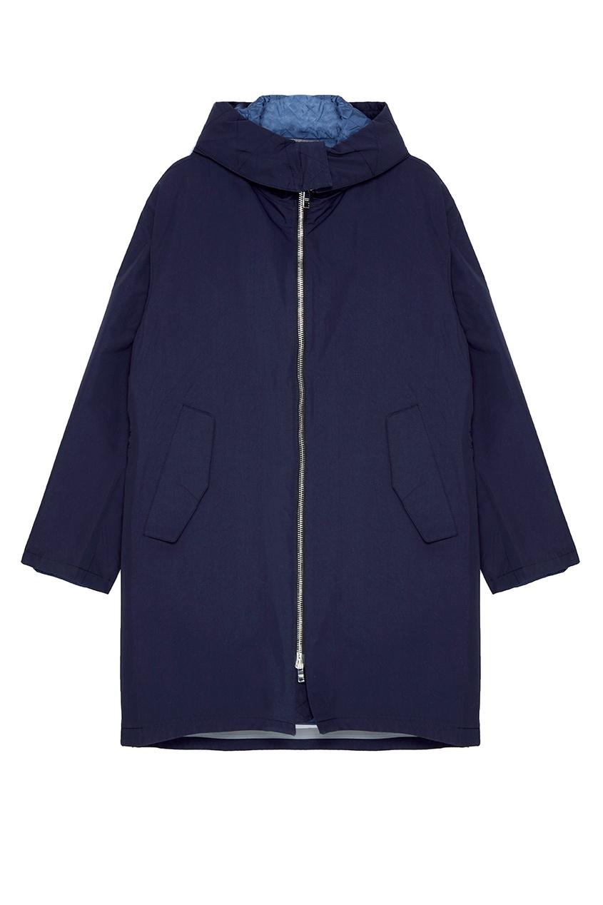 Купить Темно-синий плащ на молнии от Prada синего цвета