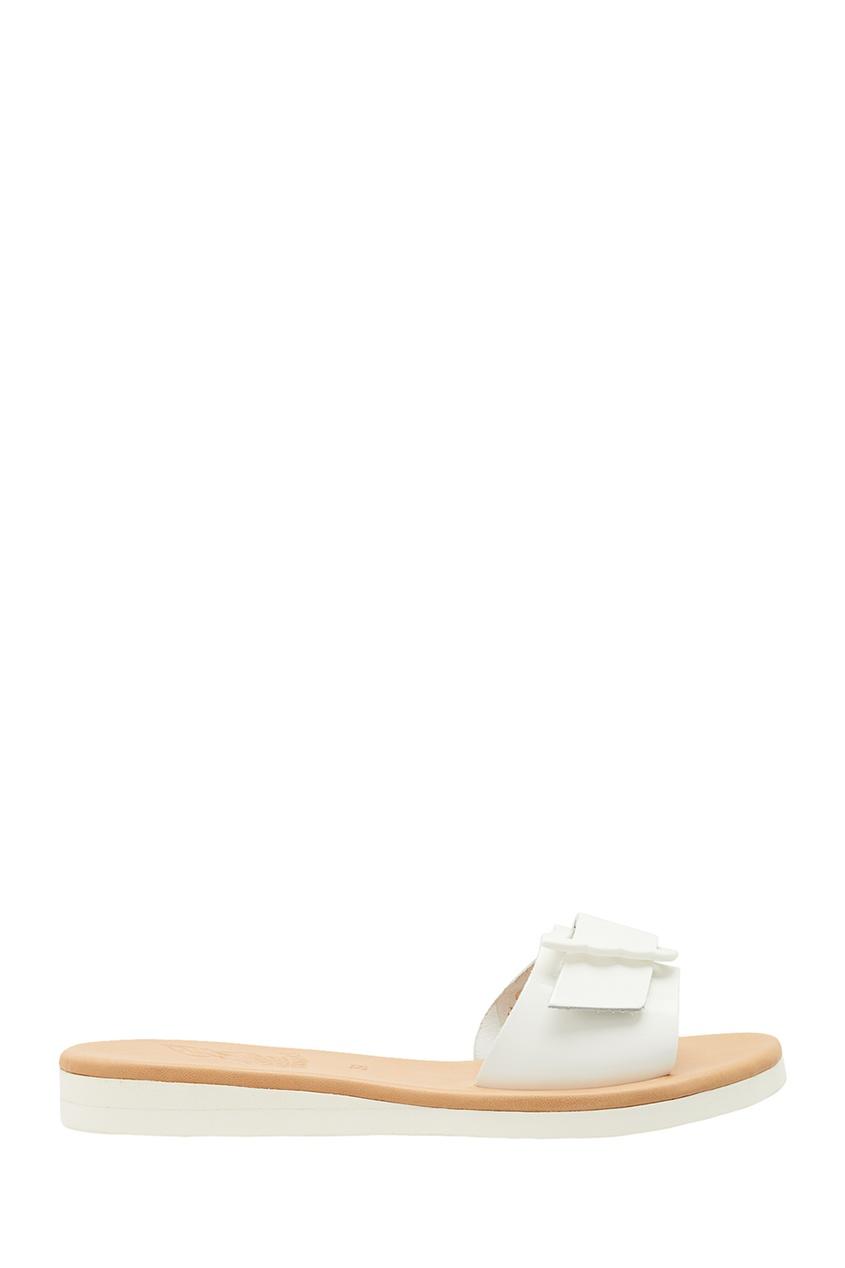 купить Ancient Greek Sandals Белые кожаные сандалии дешево