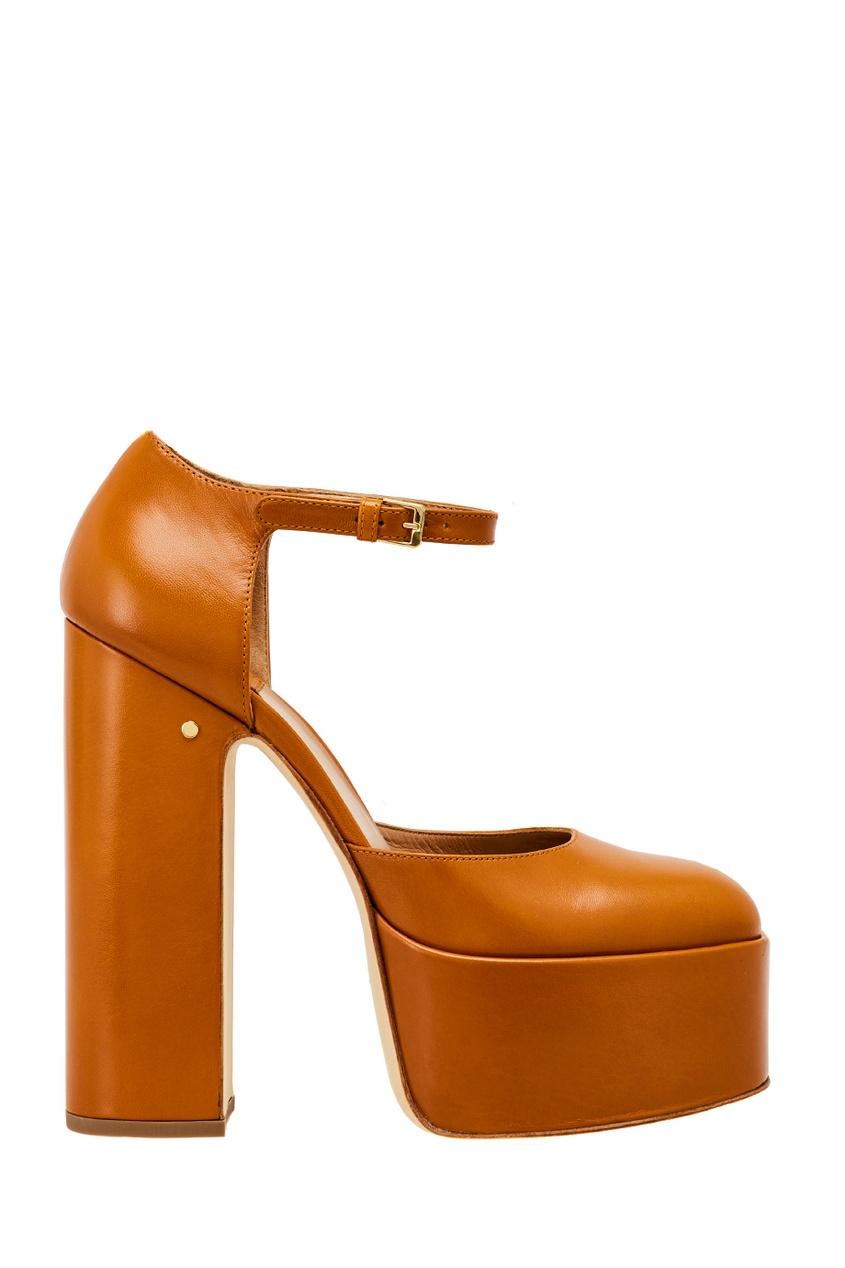 Коричневые туфли из кожи