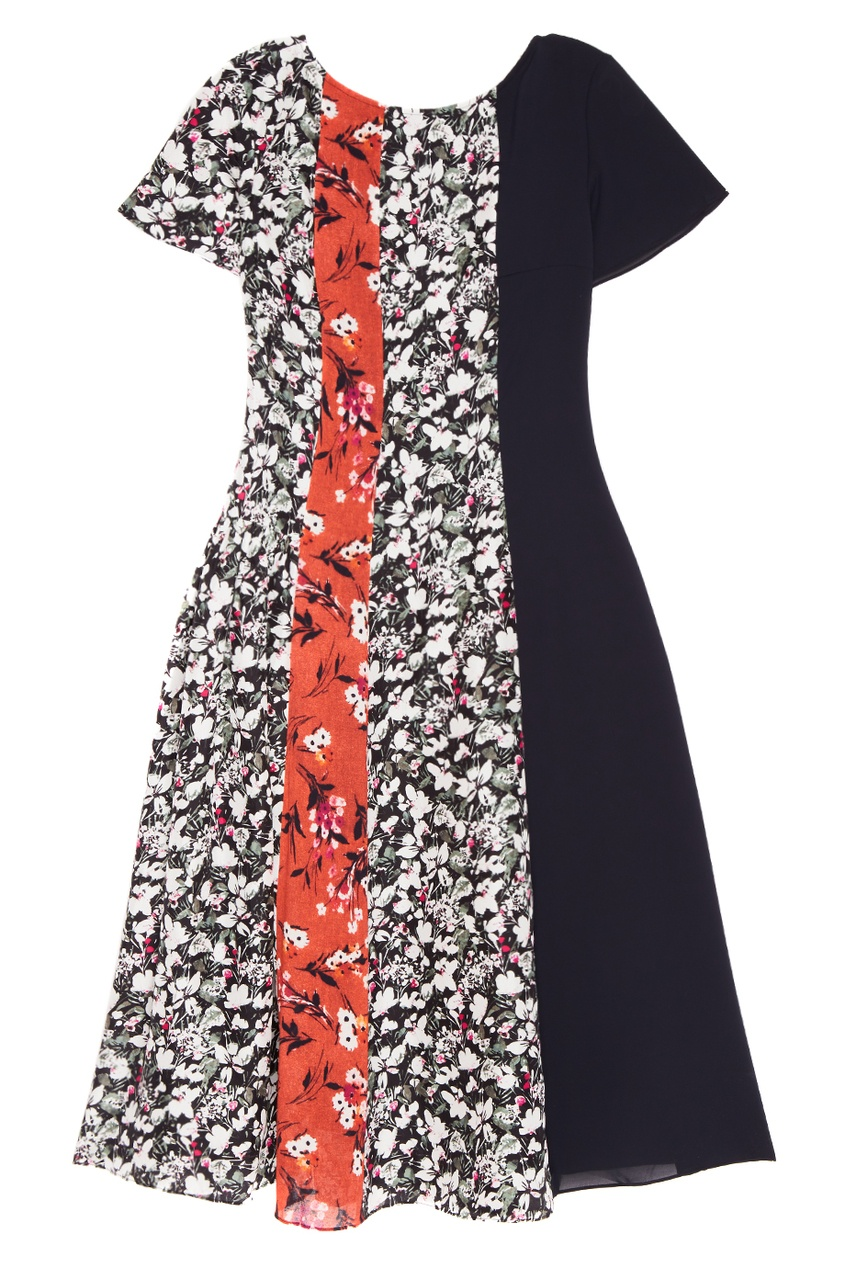 Платье с комбинированным принтом Jovana