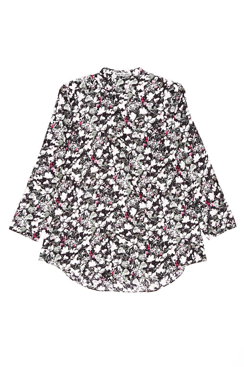 Acne Studios Шелковая блузка с цветами Bodil джинсы acne studios джинсы бойфренды