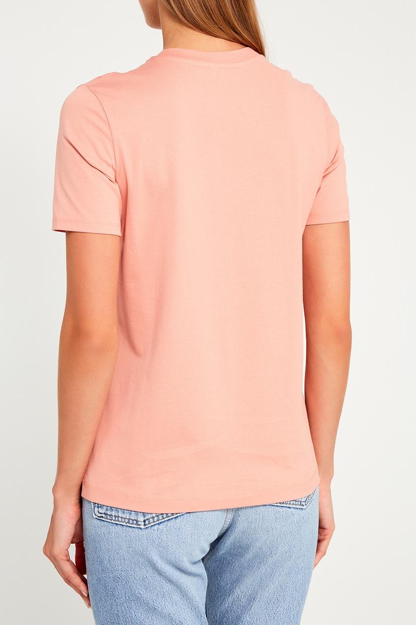 Хлопковая футболка персикового цвета Taline