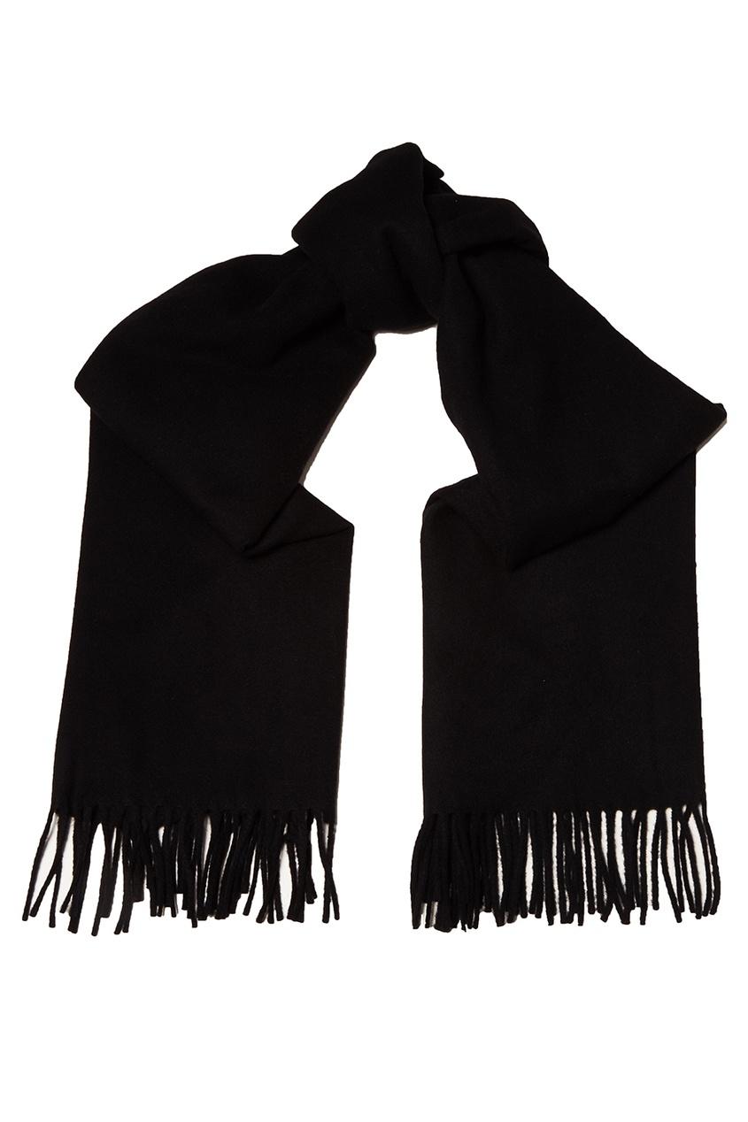 Acne Studios Черный шарф с бахромой Canada acne studios серый шарф в рубчик abby