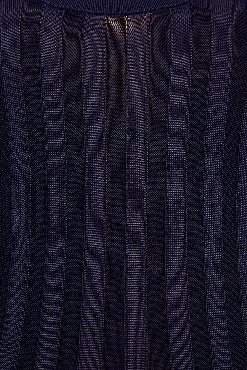Acne Studios Синий топ в рубчик Sharley недорго, оригинальная цена